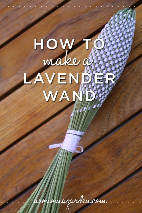 How to make a french lavender wand. Easy instructions and it makes for a beautiful gift.
