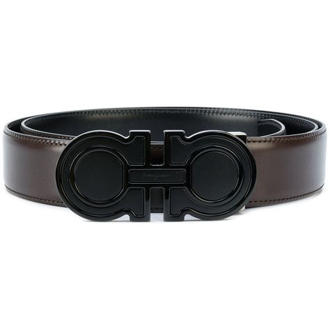0e443d80d434 Salvatore Ferragamo Gancio buckle belt ( 495) ❤ liked on Polyvore featuring  men s fashion, men s accessories, men s belts, brown, mens brown belt and  ...
