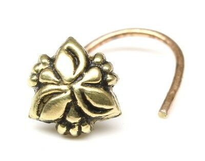 Karizma Jewels Indian Style Sterling Silver Nose Stud Piercing Nose Ring Push Pin