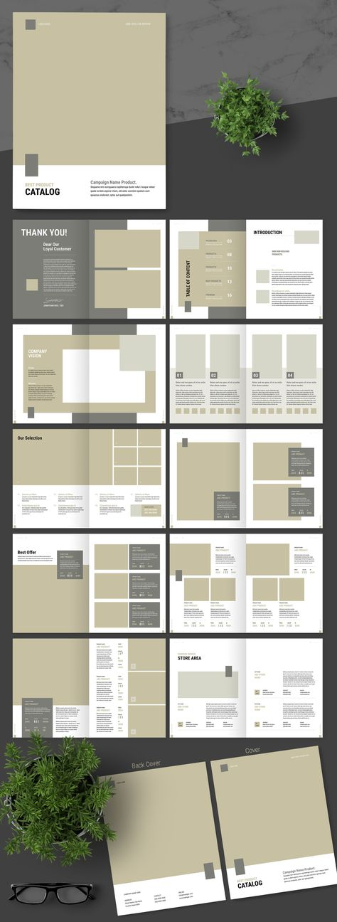A Very Clean Product Catalog Template for Adobe InDesign