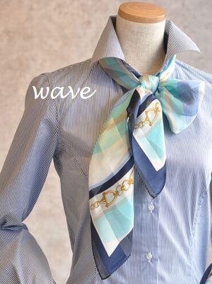 名古屋骨格診断パーソナルカラー小島葉子のマイオウンスタイル 骨格診断ストレート ウェーブ ナチュラル タイプ別シルクスカーフの巻き方選び方 スカーフの巻き方 スカーフ 40代 ファッション