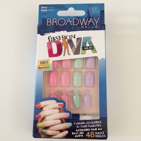Details about Broadway Fashion Diva Nail Kit, Short Length, (#BMFD02)  #DivaNails  Broadway Fashion Diva Nail Kit, Short Length, (#BMFD02)