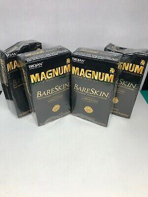 Advertisement Lot Of 4 Trojan Magnum Bare Skin Condoms Large 10ct Lubricated Exp 2024 Condoms Lubricants Bare Skin