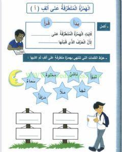 الهمزة المتطرفة على ألف Language Arabic Grade Level 5 School Subject اللغة العربية Main Content مهارات O In 2021 Learning Arabic Learning Resources School Subjects