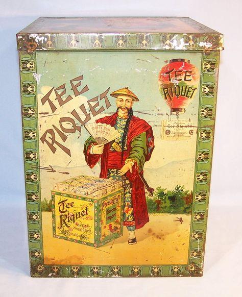 1892 Riquet tea tin