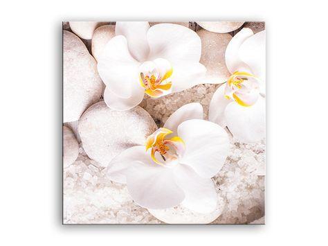 Luxury Wanddeko Glasbild xcm Wellness Zen Spa Bad Orchidee ein Designerst ck von art issimo bei DaWanda Orchideen Pinterest Spa