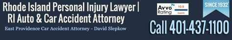 Rhode Island Personal Injury  and Car Crash Attorney, David Slepkow 401-437-1100