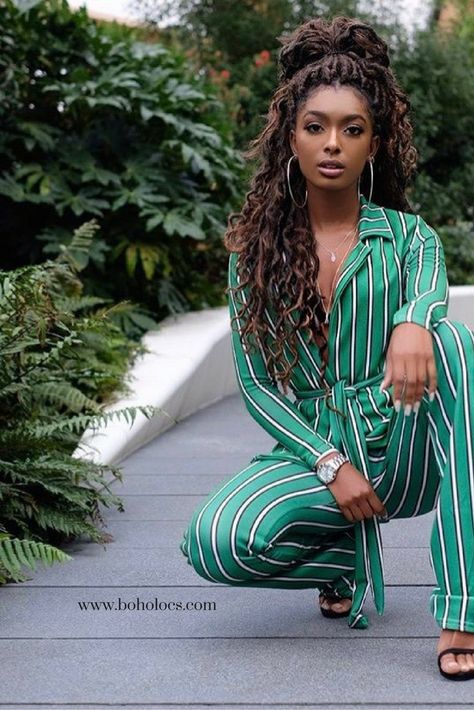 BRONDE BOHO MERMAID LOCS® Mermaid Locs have been on everyone's wish list! Beautiful, chic natural hairstyles like these hot faux dreads are waiting for you!