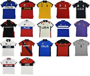 Polo Ralph Lauren Custom Slim Fit Big Pony World Cup Country Shirt New Ebay Country Shirts Polo Ralph Lauren Shirts
