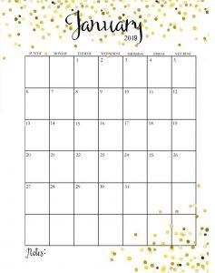 Cute Calendar January 2019 Free Printable Calendar Templates