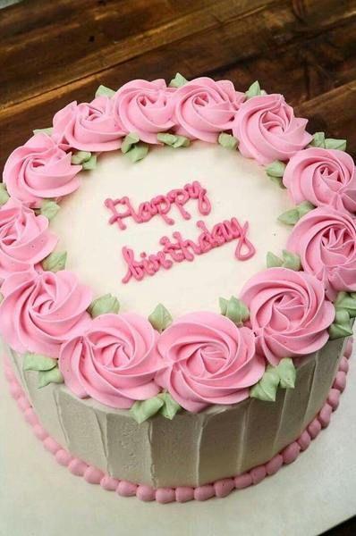 Imagem Relacionada With Images Buttercream Birthday Cake