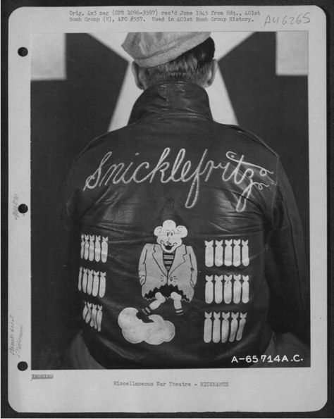 Bomber Jacket Art: See U. Air Force Pilots Personalized Nose Art on Their Flight Jackets During World War II