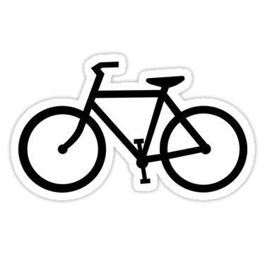 Bike Silhouette Sticker By Maydaze In 2020 Bike Silhouette Bike Drawing Bike