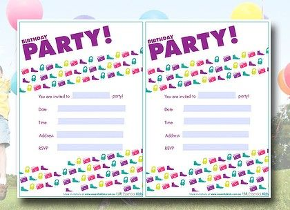 groovin' music party invitations! free download at www, Party invitations