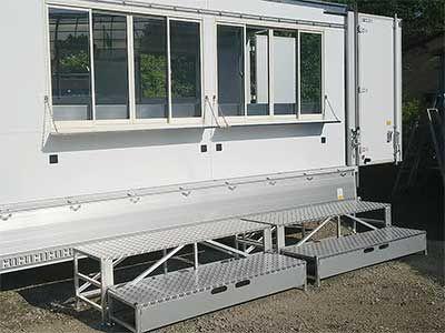 キッチンカーレンタル 3tウィング1号 超ロングアルミウィング車 鶴