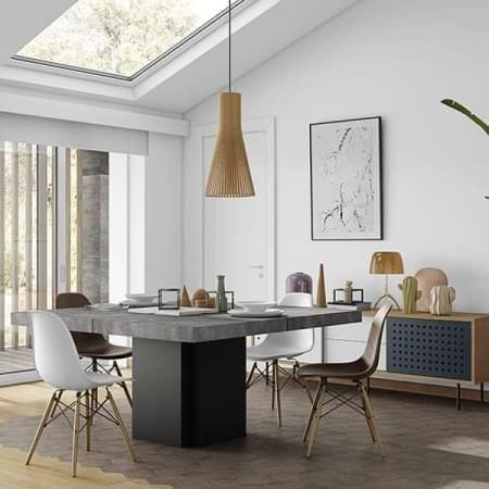 Dusk 正方形のダイニングテーブル 130または150センチメートル ほとんど彫刻 デリオによって設計vicente 正方形の ダイニングテーブル 現代的な家具 丸いダイニングテーブル