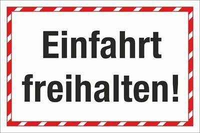 Schild Parkverbot Halteverbot Ein und Ausfahrt freihalten 3 mm Alu-Verbund