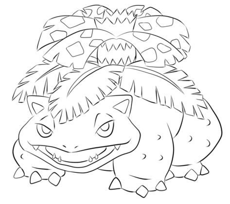 Venusaur Coloring Page From Generation I Pokemon Category Select