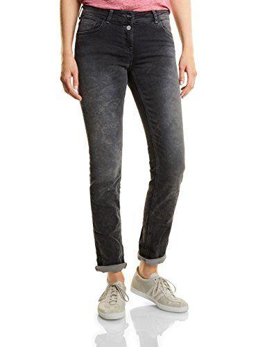 Cecil Damen Straight Jeans Charlize 370985 Grau (Grey Used