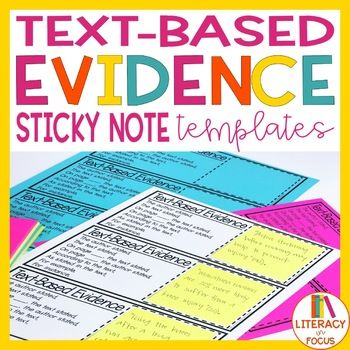 Text Based Evidence Cards Text Based Evidence Reading Classroom Citing Text Evidence
