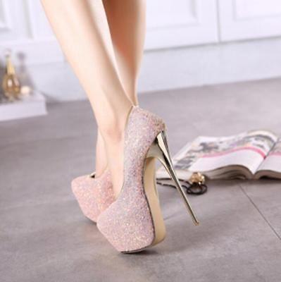d28d4754637 Picture 7 of 17. Picture 7 of 17. More information. Details about Ladies  Women Glitter Party Platform Pumps Killer High Heels Stiletto Court Shoes