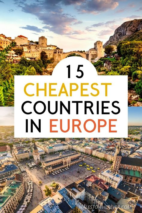 Who says visiting Europe has to be expensive? Travelling Europe on a budget is DEFINITELY possible, and some of the most beautiful countries on the continent can be explored for less than $50 USD per day! These are 15 of the cheapest countries to visit in Europe, that are as incredible as they are budget-friendly. Click to find out which countries they are! #BudgetTravel #EuropeTravel #BeautifulDestinations
