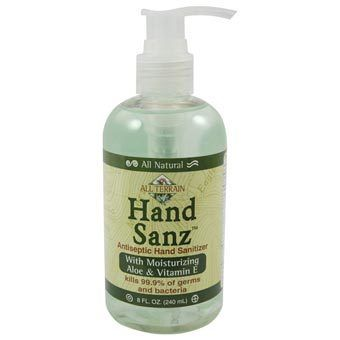 Hand Sanz W Aloe Vit E 8 Oz Natural Hand Sanitizer Hand