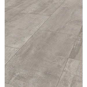 Wickes Concrete Tile Effect Laminate, Cement Effect Laminate Flooring