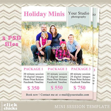 Mini Session - Photography Marketing Template - Holiday Mini Session 022 - C085, INSTANT DOWNLOAD