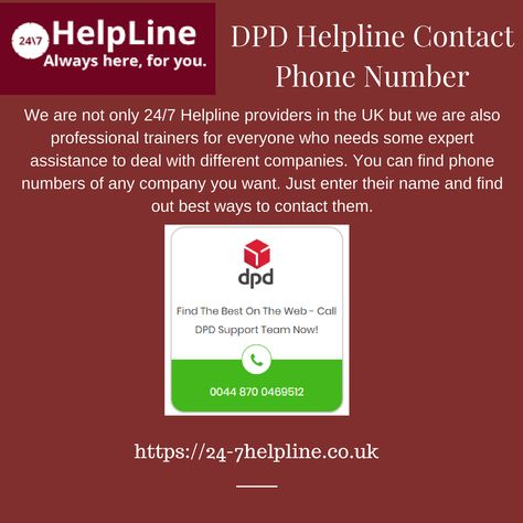 We Are Not Only 24 7 Helpline Providers In The Uk But We Are Also