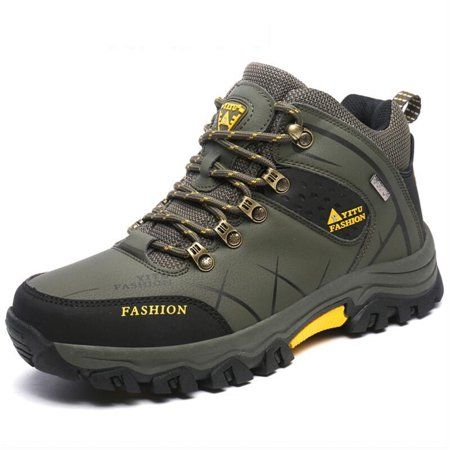 Bergort Men Hiking Shoes Breathable Camping Shoes Trekking Climbing Sneakers