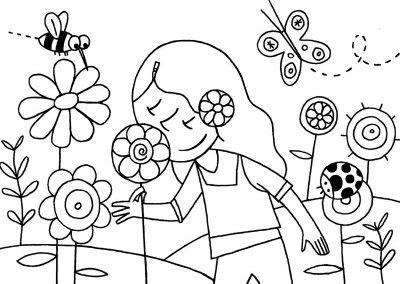 Dibujos De La Naturaleza Primavera Dibujos De La Naturaleza Dibujos Primavera Paisajes