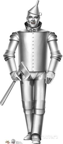 /'39 WIZARD OF OZ TIN MAN WITH HEART PHOTO PRINT SCARECROW LION ART IN BACKGROUND