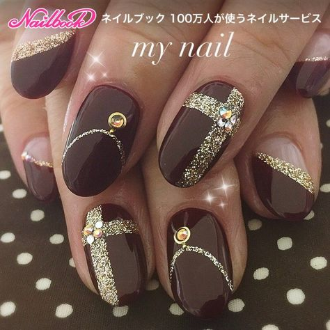 69 super ideas for nails brown gold manicures nailart