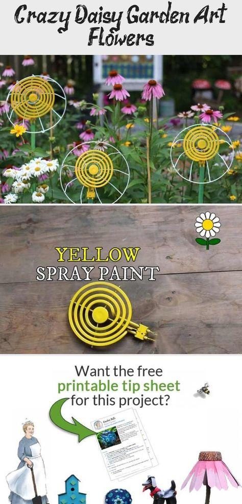 Crazy Daisy Garden Art Flowers - Decor Dıy,  #Art #Crazy #Daisy #Decor #DIY #flowers #Garden