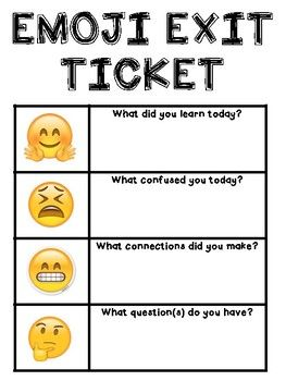 """Use these """"Emoji Exit Tickets"""" to formatively assess student learning in a fun, relevant way! This set includes 6 different exit tickets to print for students individually or to hang in your classroom for daily use. Teaching 5th Grade, Co Teaching, Teaching Activities, Teaching Strategies, Assessment For Learning, Formative Assessment, Student Learning, Writing Rubrics, Paragraph Writing"""