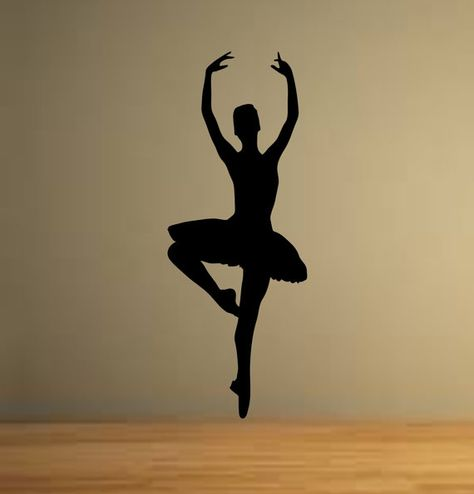 Ballet Dancer Dancing Ballerina Wall Decor Vinyl Decal Sticker