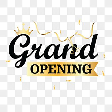Grand Opening Design Shop Open Grand Open Png And Vector With Transparent Background For Free Download Grand Opening Shop Opening Invitation Card Geometric Pattern Background