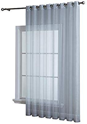Asatex 1 Extra Wide Patio Grommet Semi Sheer Curtain Panel 102
