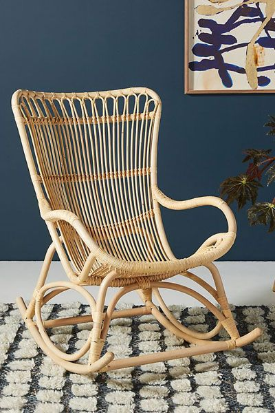 Rattan Rocking Chair Furniture Boho Decor Living Room Home Decor Ideas Rattan Rocking Chair Rocking Chair Rocking Chair Nursery