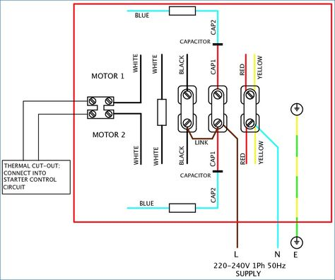 240v motor wiring diagram single phase Collection-Single ... on
