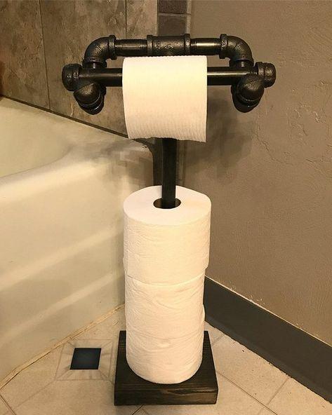 FREE SHIPPING!!! Industrial Steapunk look!! White Oak paper towel holder!