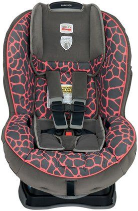 Ever's new carseat! - Britax Marathon Convertible Car Seat G4 - Pink Giraffe