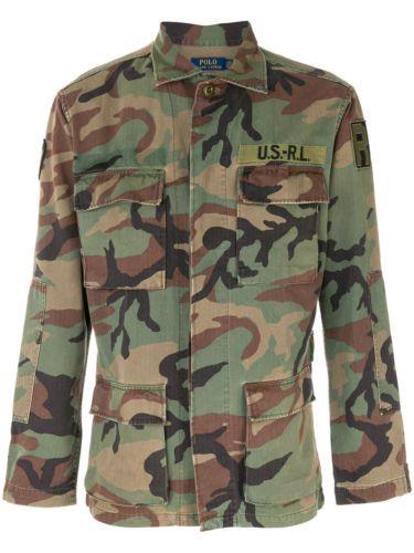 60965f1c7da Details about Polo Ralph Lauren Men Vtg Retro Military Army Camo ...