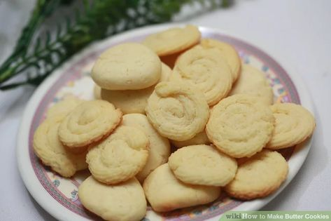 Butter cookies—also known as Dutch biscuits—are delicious, crispy cookies that are quick and easy to make.