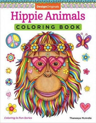 Hippie Animals Coloring Book Coloring Is Fun By Thaneeya Mcardle Paperback Coloring Books Animal Coloring Books Animal Coloring Pages