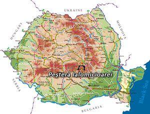 Harta Romania Pestera Ialomicioarei Tours Peșteră Pictură Murală