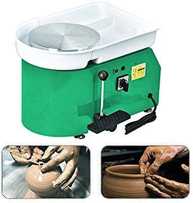 Electric Pottery Wheel Ceramic Machine 25CM Work Clay Art Craft DIY w// Tools New