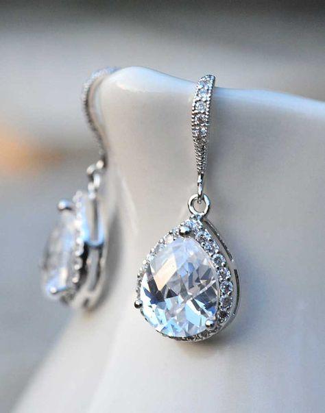 Bijoux de mariée mariage boucles d'oreilles par NotOneSparrow