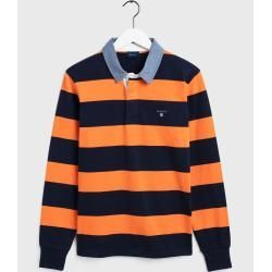 Gant Rugby Shirt Mit Streifen Orange Gant Preppy Outfits Gant Mit Orange Rugby Shirt Streifen In 2020 Mens Rugby Shirts Rugby Shirt Shirts